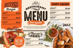 desain menu makanan simple